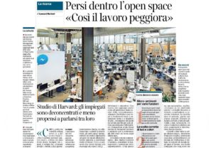 Giornale 300x208 Open space: offices layout Romano Pisciotti