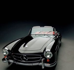 Mercedes 190 SL 300x287 CAR IN BLACK Romano Pisciotti
