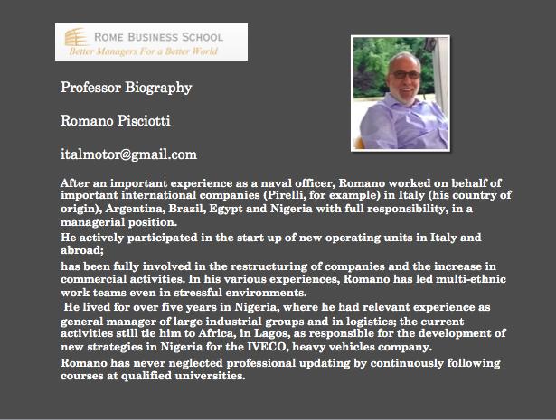 bio Romano Pisciotti update Romano Pisciotti